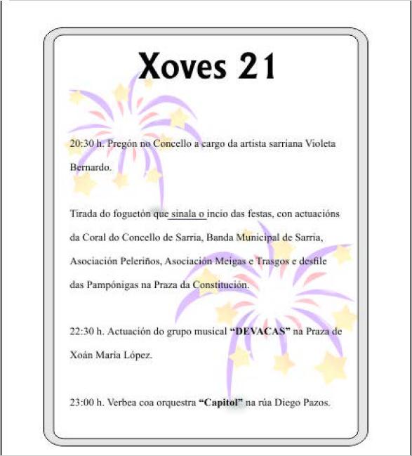 PROGRAMA DE FESTAS SAN XOÁN DE SARRIA 2018 PAGINA 1