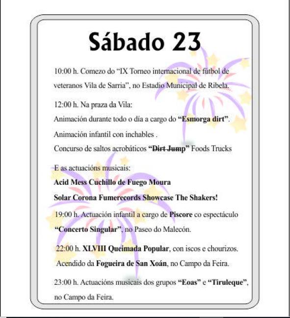PROGRAMA DE FESTAS SAN XOÁN DE SARRIA 2018 PAGINA 3
