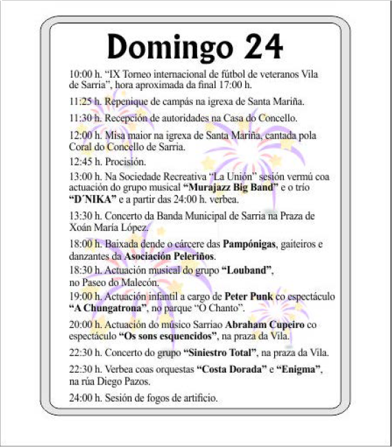 PROGRAMA DE FESTAS SAN XOÁN DE SARRIA 2018 PAGINA 4