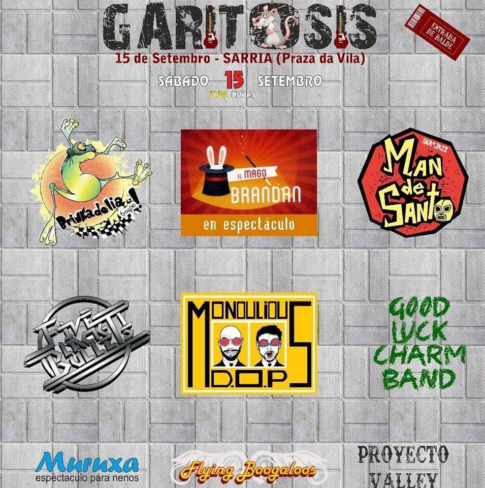 CARTEL FESTIVAL GARITOSIS 2018