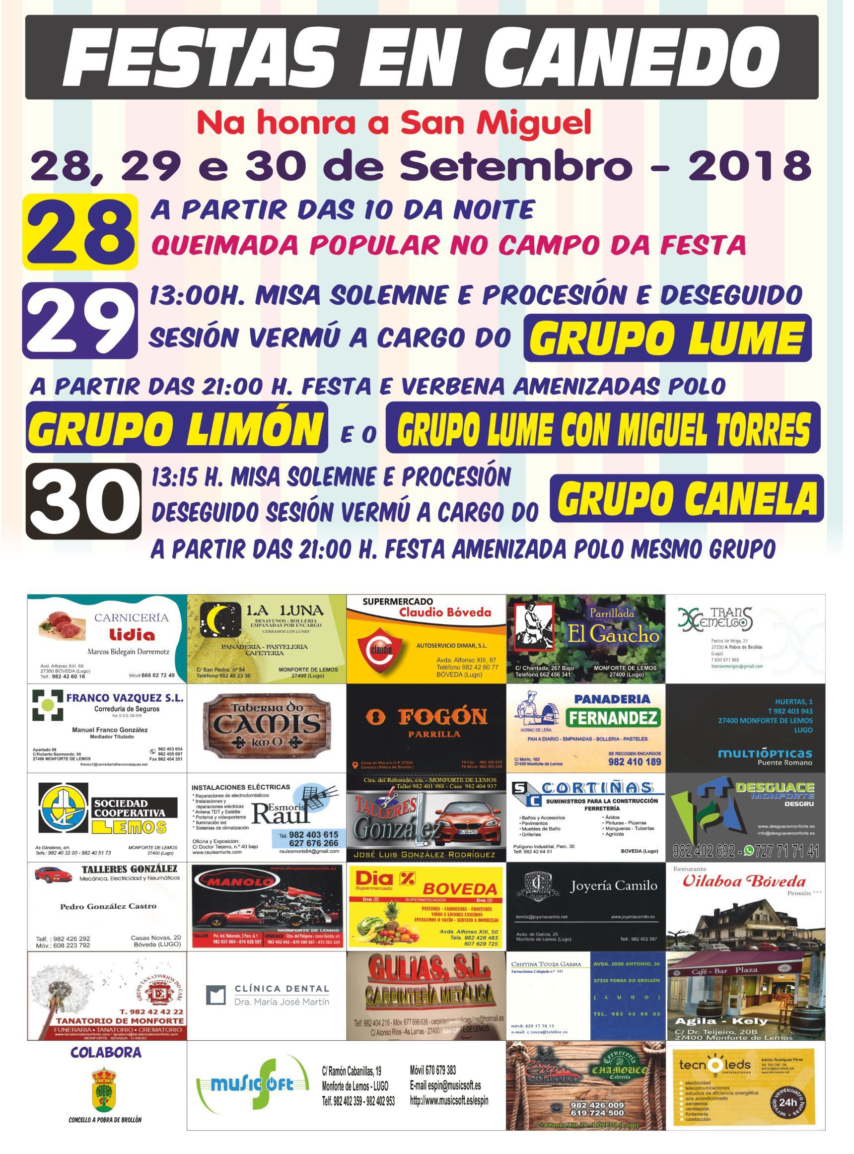 CARTEL FIESTAS CANEDO 2018 low