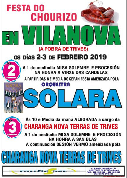 FESTA DO CHOURIZO - VILANOVA - TRIVES 2019