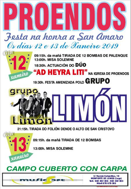 FESTAS DE SAN AMARO - PROENDOS (SOBER) 2019