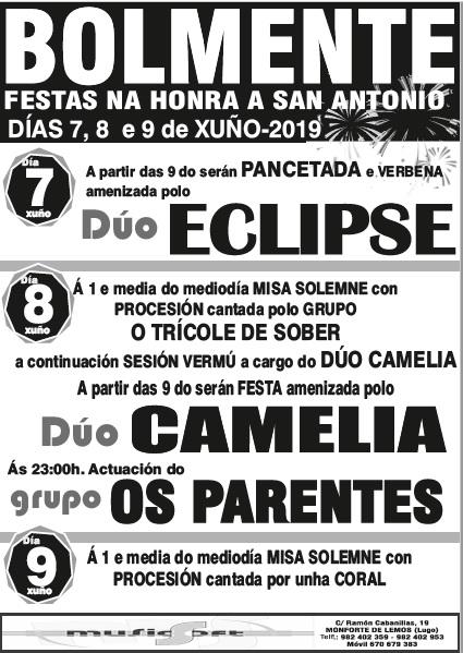 CARTEL FIESTAS DE BOLMENTE (SOBER) 2019 - MUSICSOFT