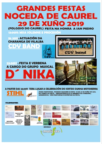 CARTEL FESTAS NOCEDA DE CAUREL 2019