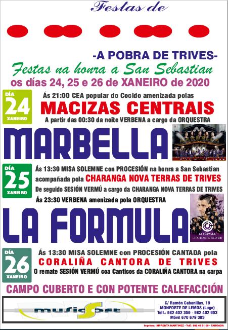 PIÑEIRO (A POBRA DE TRIVES) - Cartel Festa do Cocido 2020 - MUSICSOFT